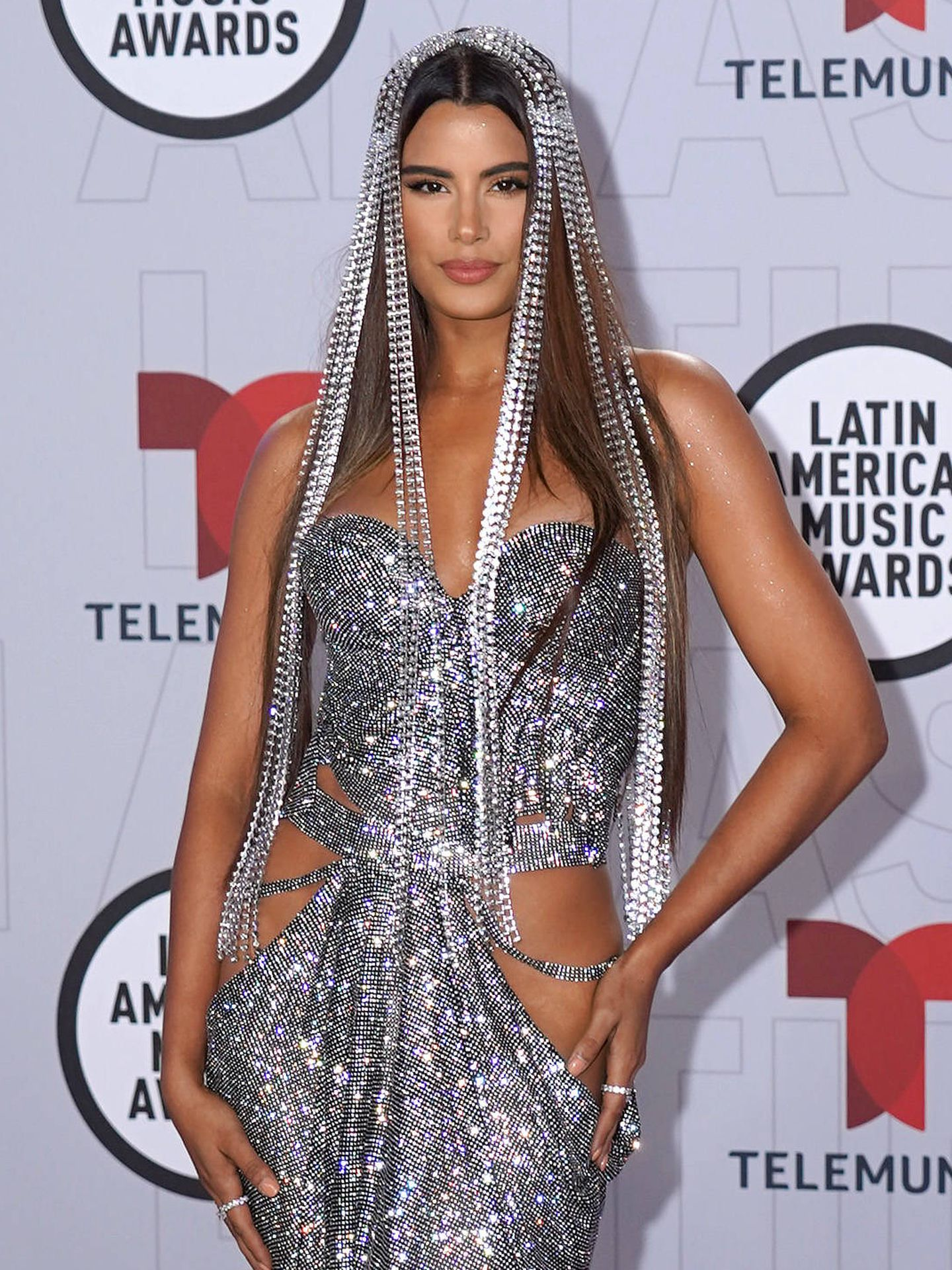 Ariadna Gutiérrez, en los Latin AMAs. (Getty)