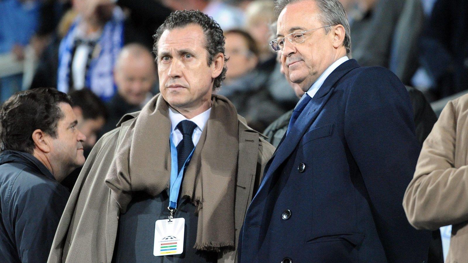 Foto: En la imagen, Jorge Valdano junto a Florentino Pérez. (Imago)