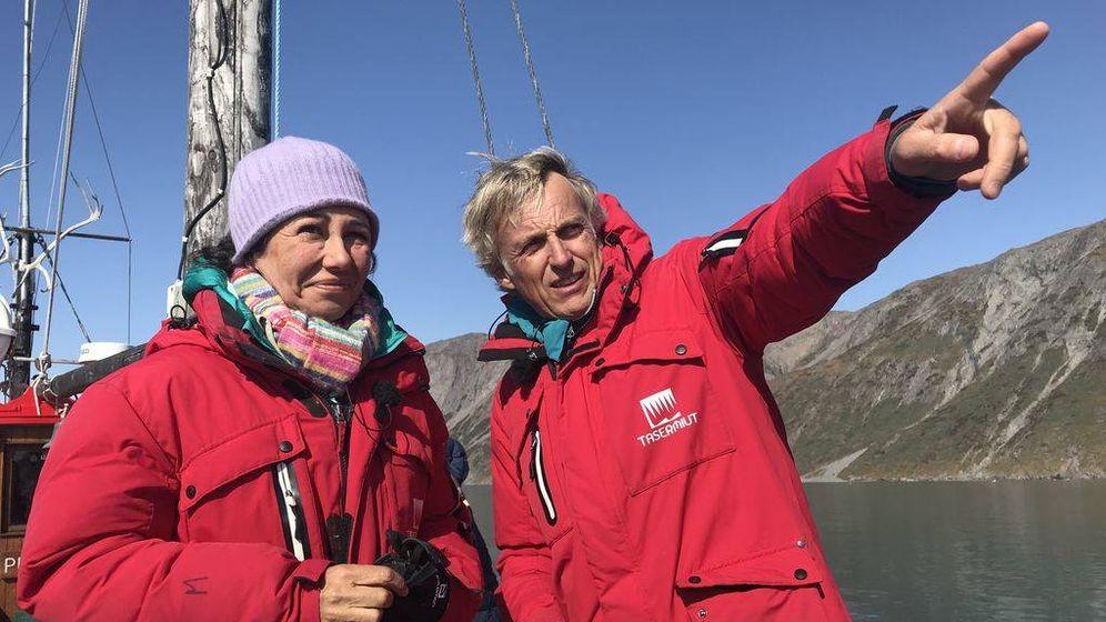Foto: Ana Botín y Jesús Calleja, en 'Planeta Calleja'. (Mediaset).