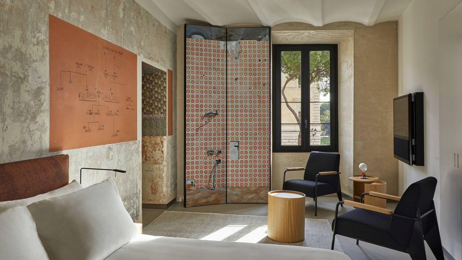 Foto: Interior de uno de los apartamentos de Rooms of Rome diseñados por Jean Nouvel. (Foto: Olga Moreno)