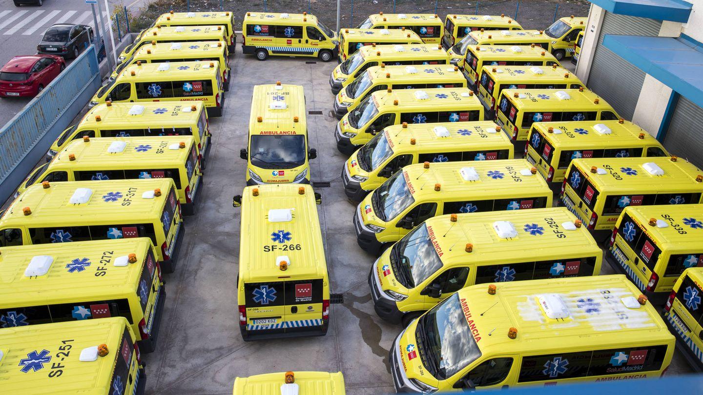 Las nuevas ambulancias presentadas esta semana del contrato no urgente.