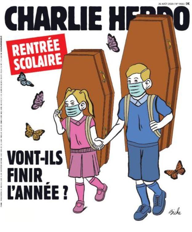 Foto: Portada de la revista Charlie Hebdo sobre la vuelta a las aulas.