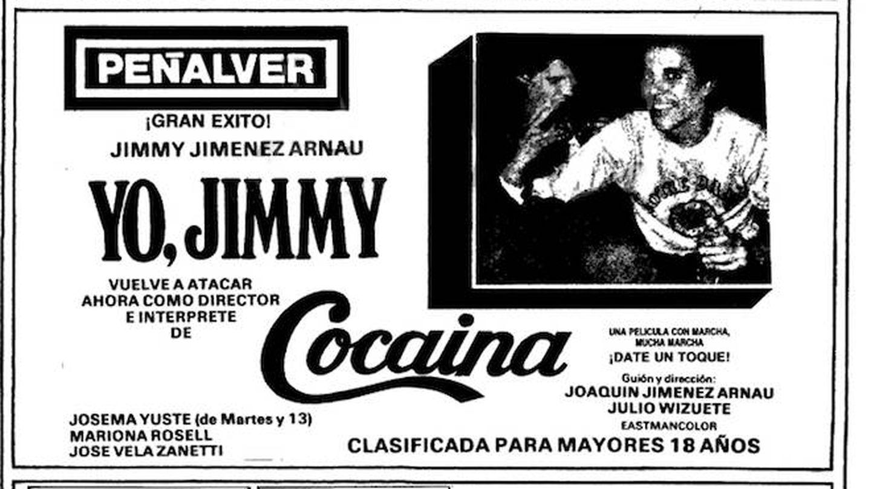 Anuncio de 'Cocaína', de Jimmy Giménez-Arnau.