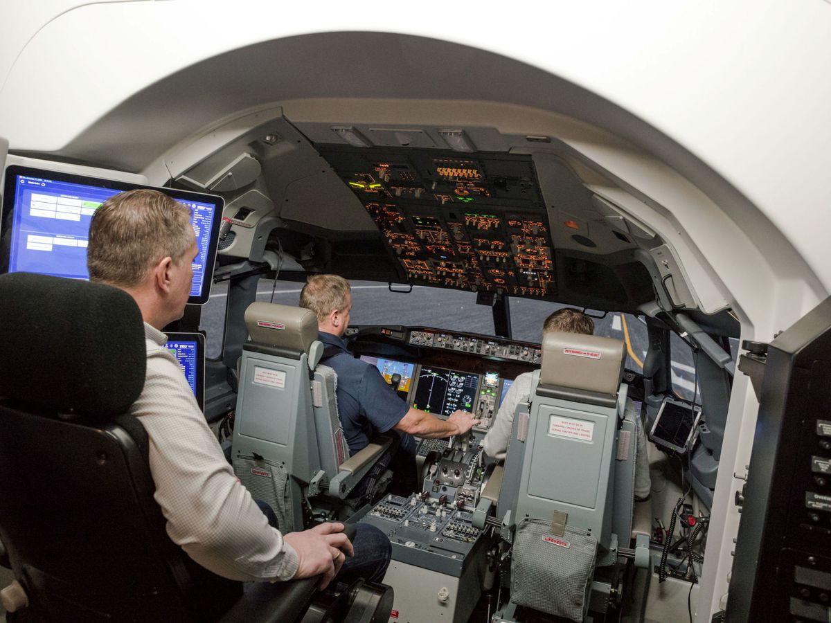 Foto: Cabina de un Boeing 737 MAX