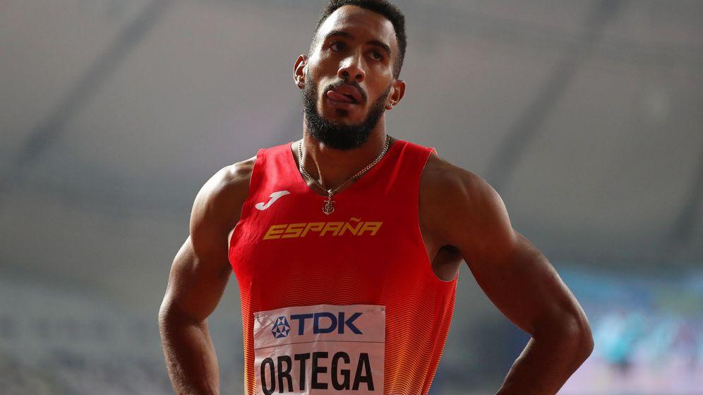 Foto: Orlando Ortega, tras la final de los 110 metros valla. (EFE)