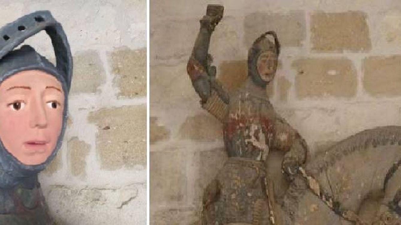La restauración de una escultura de San Jorge del siglo XVI, el nuevo 'Ecce Homo'
