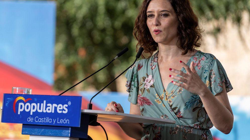 Foto: Isabel Díaz Ayuso, este domingo pasado, en Ávila. (EFE)