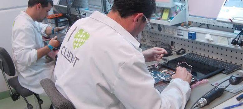 Foto: El laboratorio de reparación de la empresa C&C