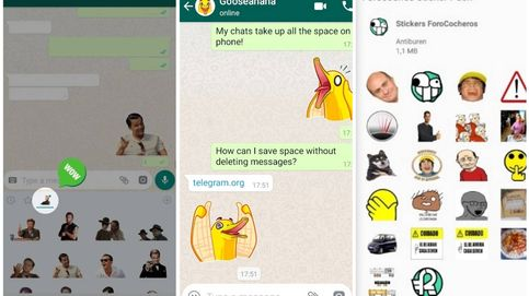 Cómo usar en WhatsApp los 'stickers' de Telegram y Facebook más famosos