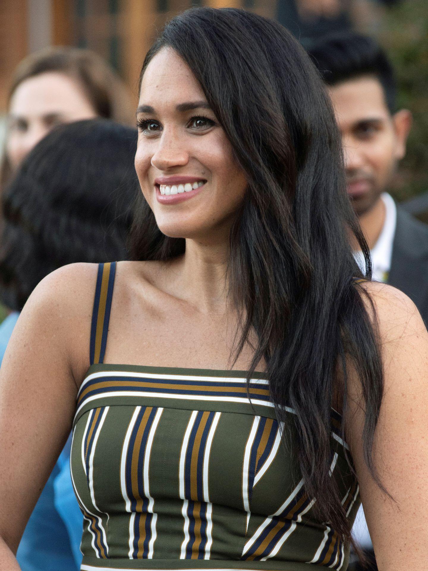 El cabello de Meghan Markle meses antes de la huida. (Reuters)