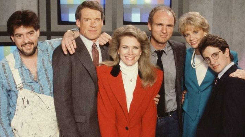 Imagen del elenco principal de 'Murphy Brown'.