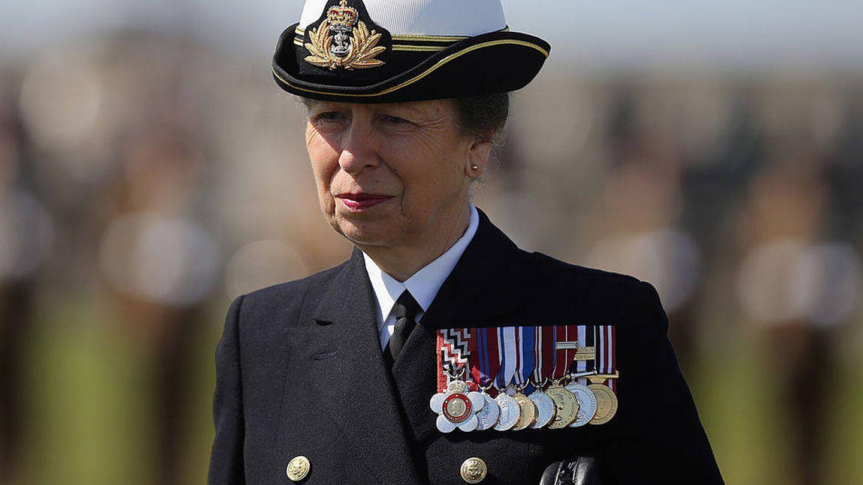 La princesa Ana, de uniforme en una imagen de archivo. (Getty)
