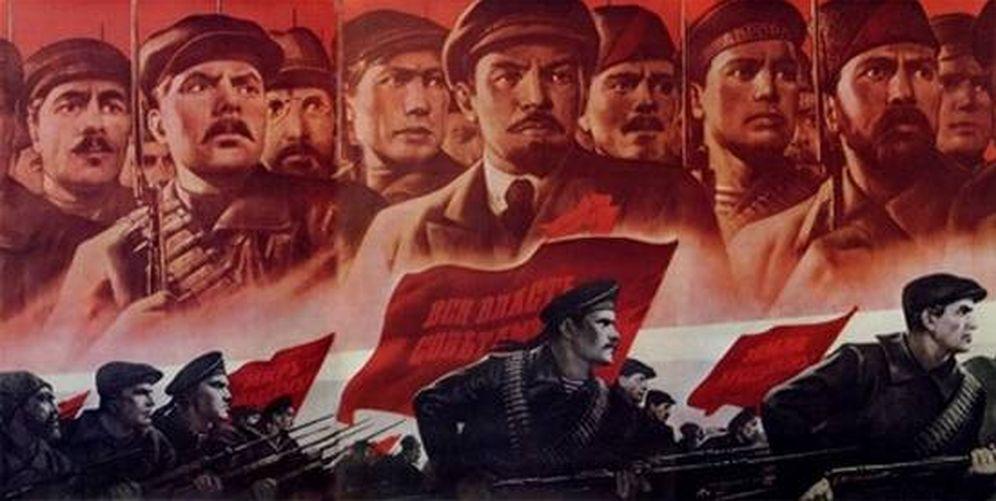 Foto: Cartel propagandístico soviético de la Revolución Rusa