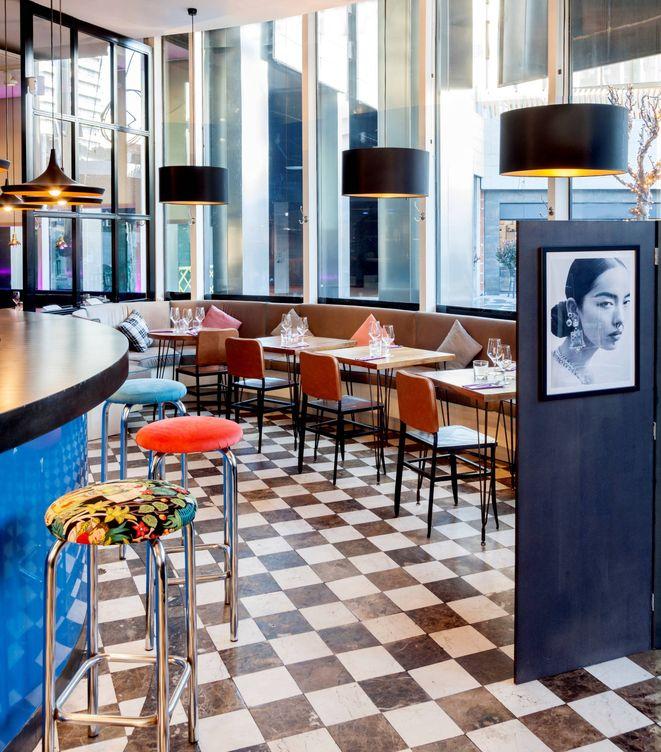 Foto: Un rinconcito del restaurante Calista, en el corazón financiero de Madrid.