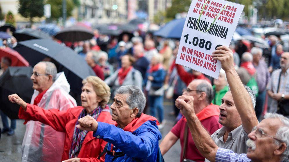 Foto: Imagen de una protesta de jubilados vascos. (Efe)