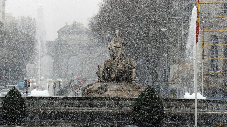 Foto: España, bajo cero: la nieve tiñe de blanco el país