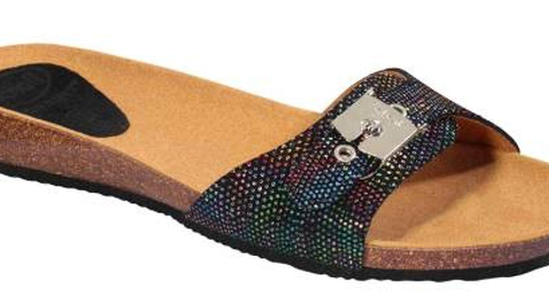 Las sandalias planas de Scholl para Amazon. (Cortesía)