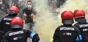 Post de La Ertzaintza investiga a tres varones tras los incidentes en el mitin de Vox en Sestao