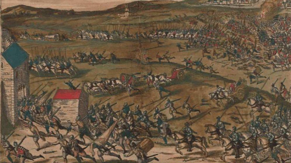 Foto: 'La batalla de Glembloux' de Frans Hogenberg.