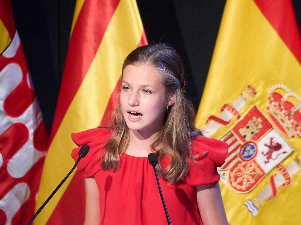 Foto:  Leonor, en los Premios Princesa de Girona. (LP)