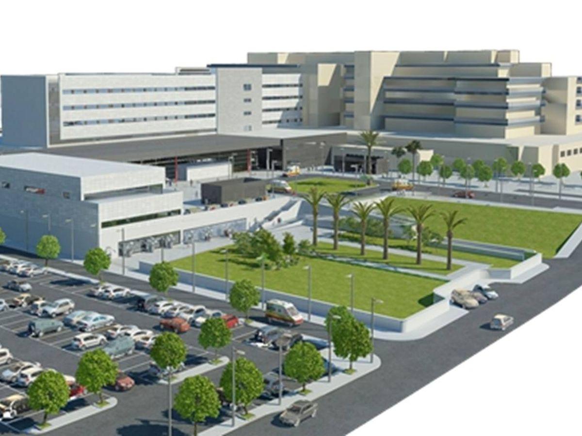 Foto: Proyecto de ampliación del Hospital Costa del Sol anunciado por la Junta de Andalucía en 2016.