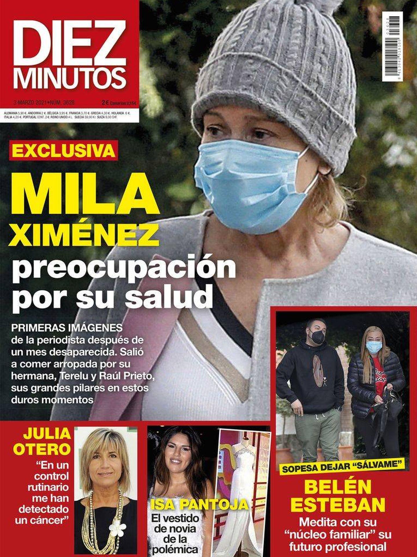 Mila Ximénez en la portada de Diez Minutos.