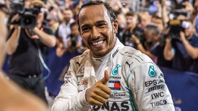 Lewis Hamilton tras ganar en Sakhir, (EFE)