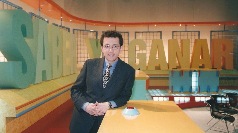 El presentador Jordi Hurtado en uno de sus primeros programas.