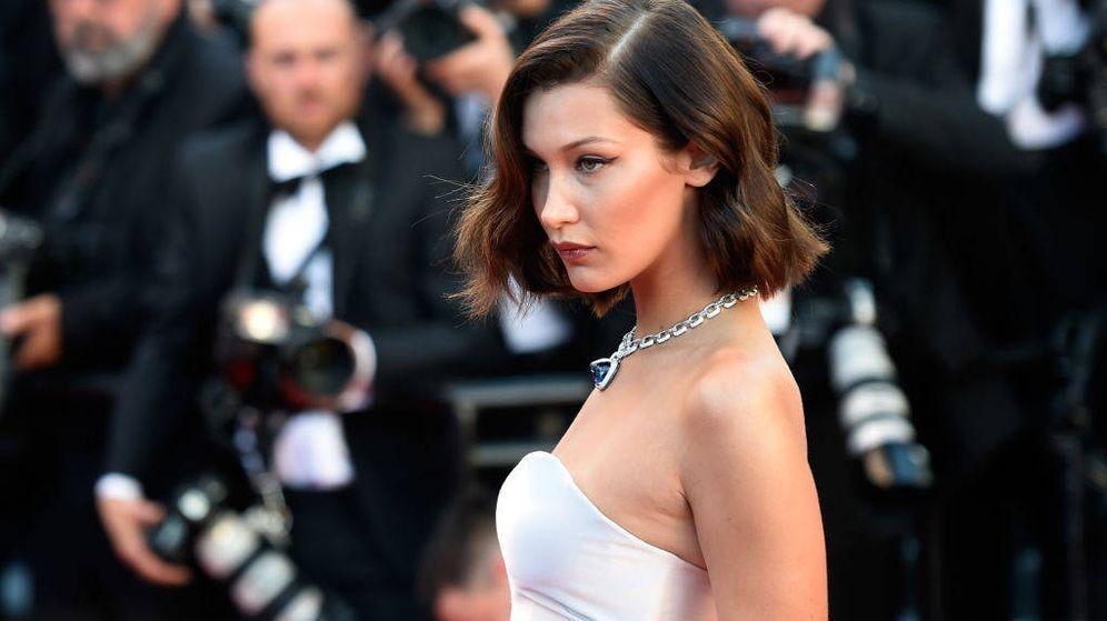 Foto: Bella Hadid durante el Festival de Cannes. (Getty)