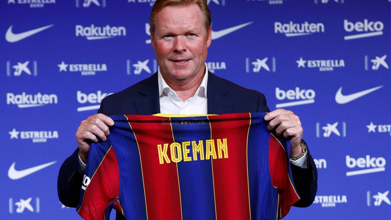Ronald Koeman, en su presentación con el FC Barcelona. (EFE)