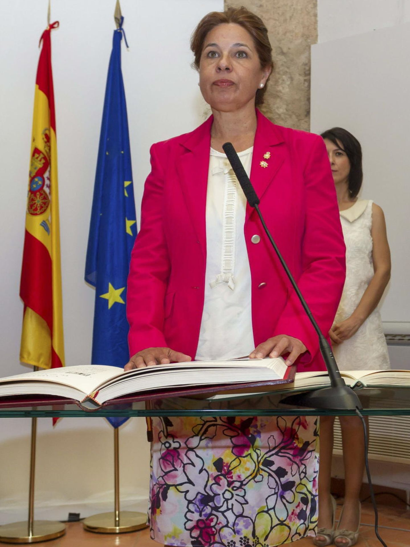 La consejera de Administración Pública y Hacienda de la Junta de Extremadura, Pilar Blanco Morales. (EFE)