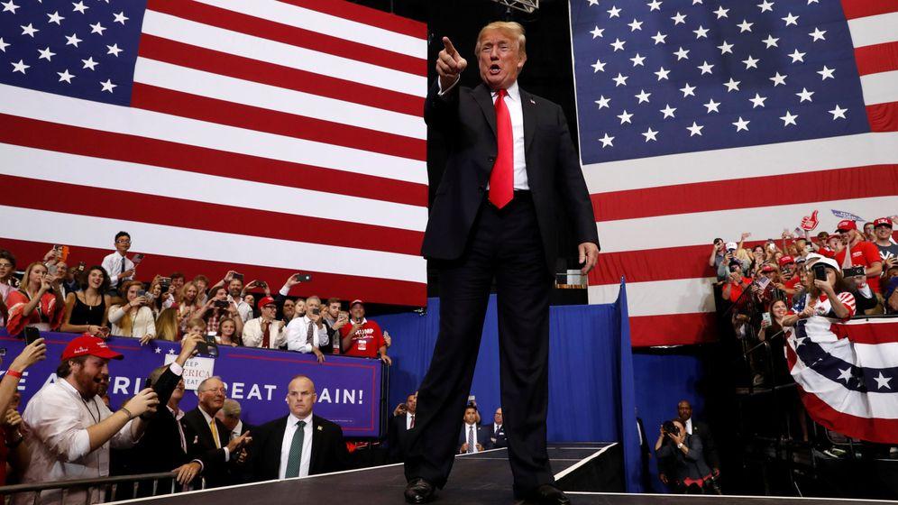 Foto: Donald Trump en un evento bajo el lema Make America Great Again en Nashville (REUTERS)