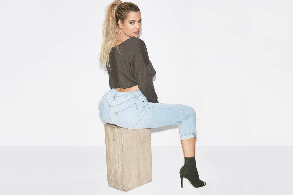 Foto: Khloé Kardashian no solo se preocupa de su trasero.
