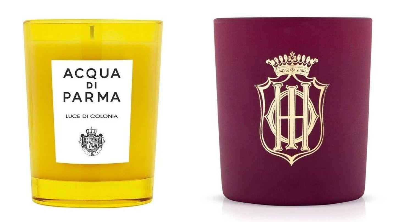 Velas perfumadas de Acqua di Parma y Sisley.