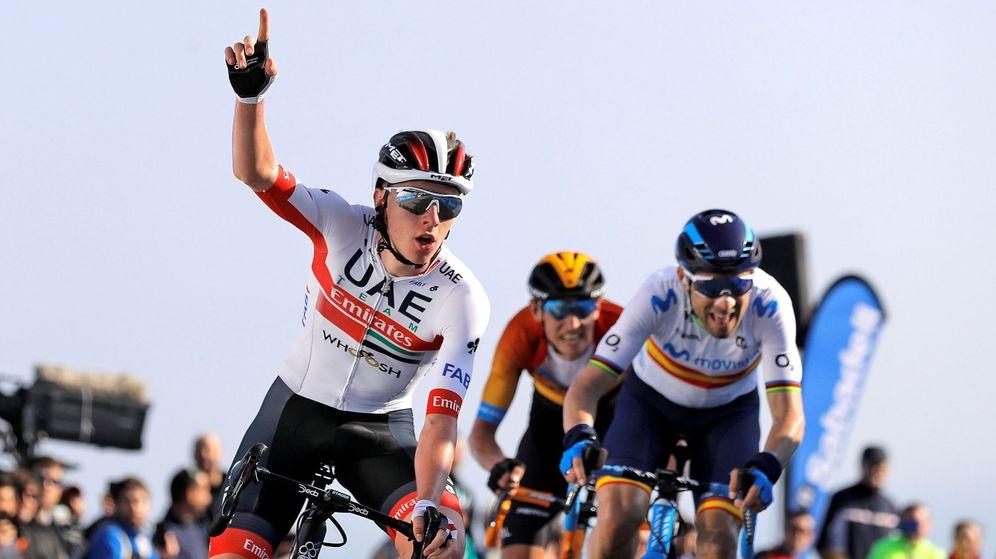 Foto: Pogacar y Alejandro Valverde podrían volver a enfrentarse en la Vuelta a Burgos. (EFE)