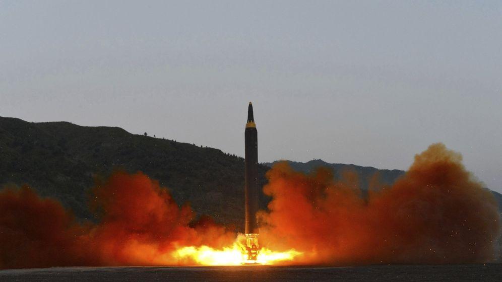 Foto: Fotografía de archivo que muestra el lanzamiento de un misil en Corea del Norte. (EFE)