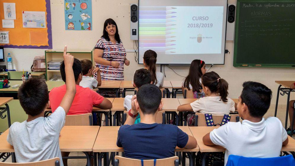 Foto: Alumnos de primaria en un colegio de Chegín, Murcia. (Efe)