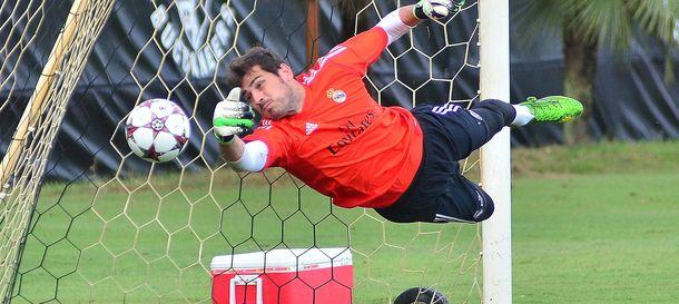 Foto: Iker Casillas, durante un entrenamiento en Miami (Efe).