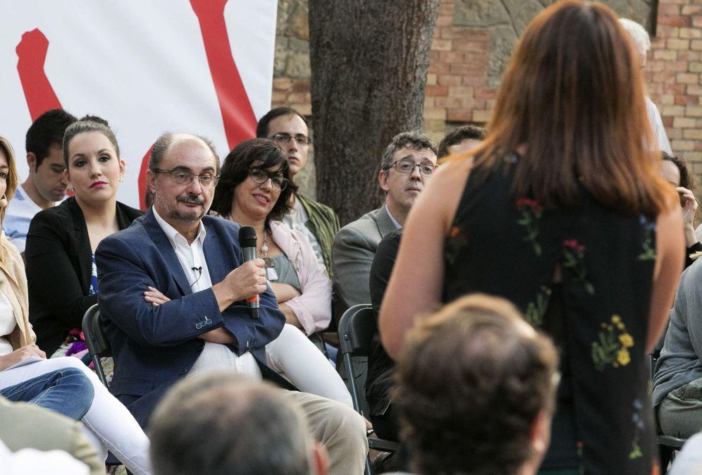 Foto: Javier Lambán, durante un acto de primarias en Zaragoza el pasado 7 de septiembre. (EFE)