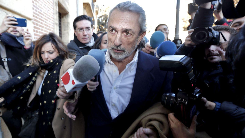 Francisco Correa, en una de las jornadas del juicio de la pieza de Fitur que se celebró en el TSJ de Valencia. (EFE)