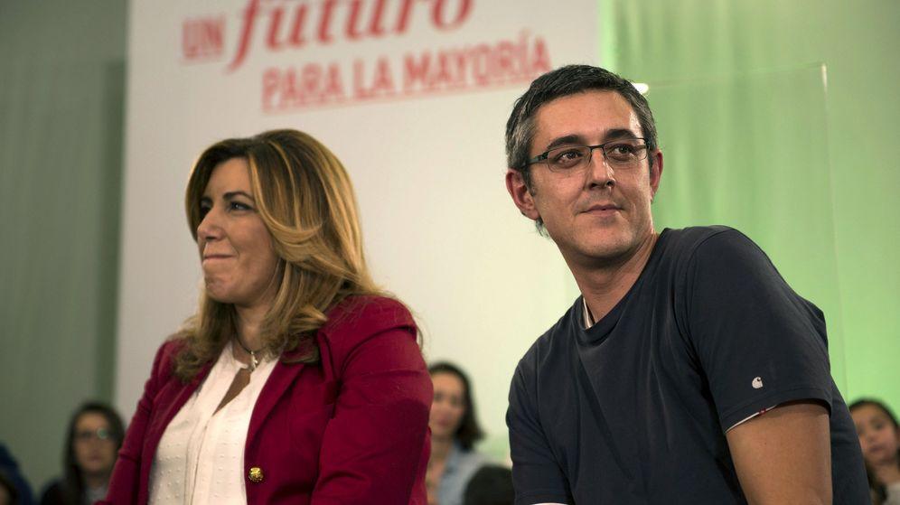 Foto: Susana Díaz y Eduardo Madina, en un acto de campaña antes de las elecciones. (EFE)