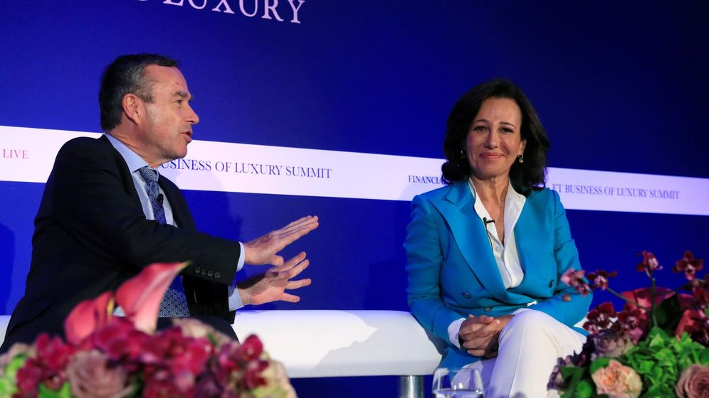 Foto: La presidenta del Banco Santander, Ana Botín, en un evento este lunes. (EFE)