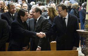 Suárez logra en Ávila la 'concordia' entre Rajoy y el clan de Aznar