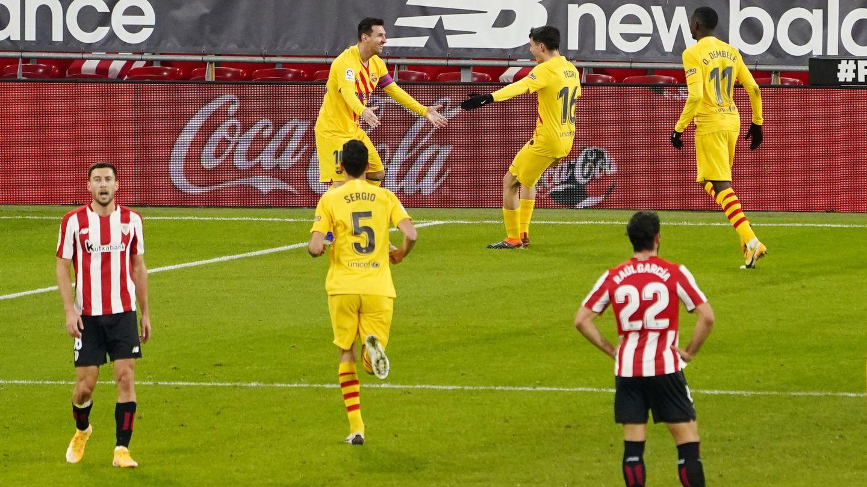 Messi y Pedri se entienden a la perfección. (Reuters)