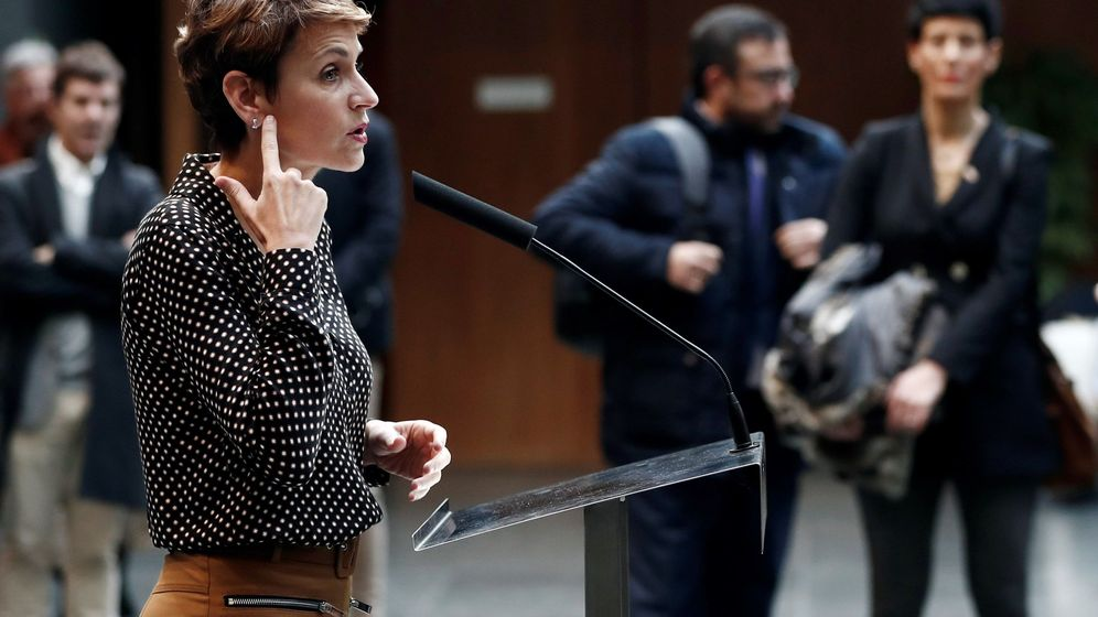 Foto: La presidenta del Gobierno de Navarra, María Chivite. (EFE)
