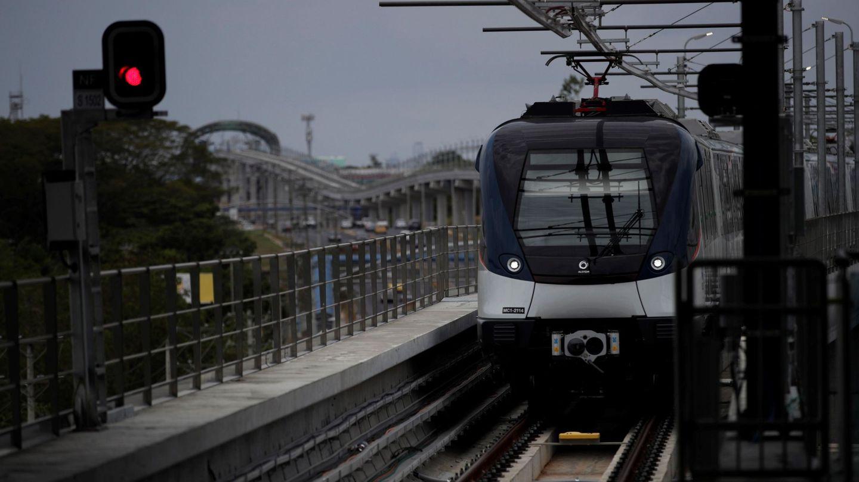 Línea 2 del metro de Panamá construida por FCC. (EFE)