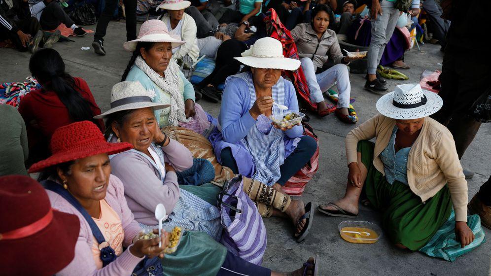 Foto: Cocaleras partidarias de Evo Morales  en Bolivia (Reuters)