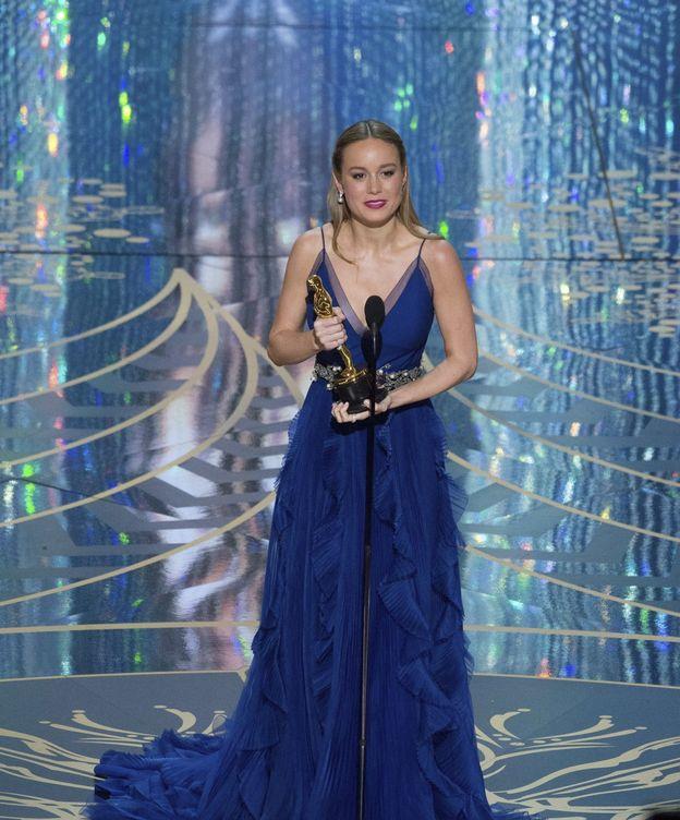 Foto: Brie Larson en la 88 entrega de los Oscar. (EFE)