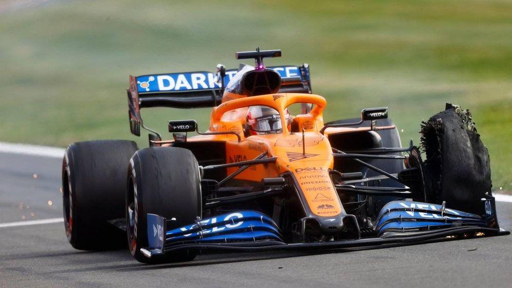 Foto: Un pinchazo inesperado a falta de vuelta y media dejó a Sainz sin el mejor resultado de 2020 (McLaren)