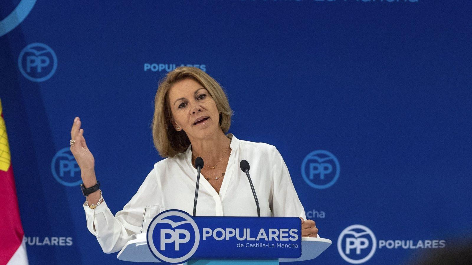 Foto: María Dolores de Cospedal, el pasado 7 de septiembre cuando dejó la presidencia del PP castellano-manchego. (EFE)